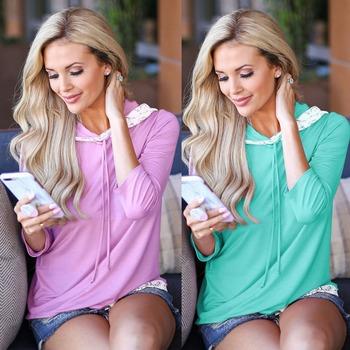 Kobiety na co dzień z długim rękawem z kapturem bluza z kapturem sport i rozrywka sweter t shirt kobieta tanie i dobre opinie WOMEN Pasuje prawda na wymiar weź swój normalny rozmiar Oddychająca