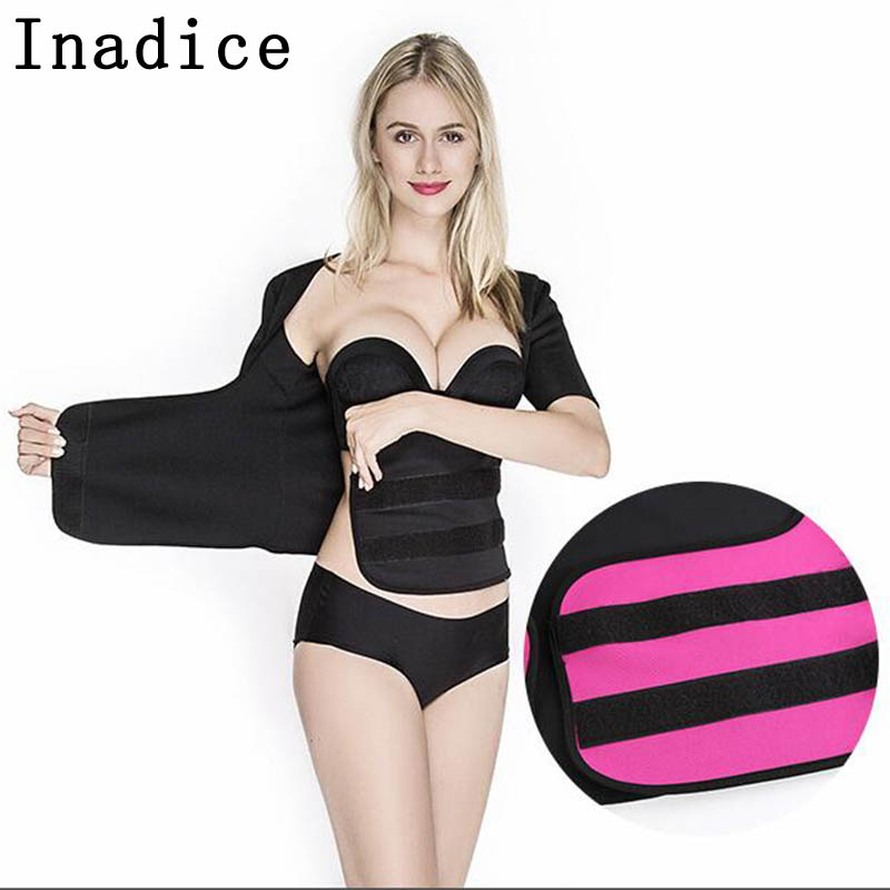 Inadice Ladies Cummerbunds Short Sleeve Corset Belt Neoprene Wide Belt Solid Elastic Belt Fashion Waist Trainer Trimmer Belt