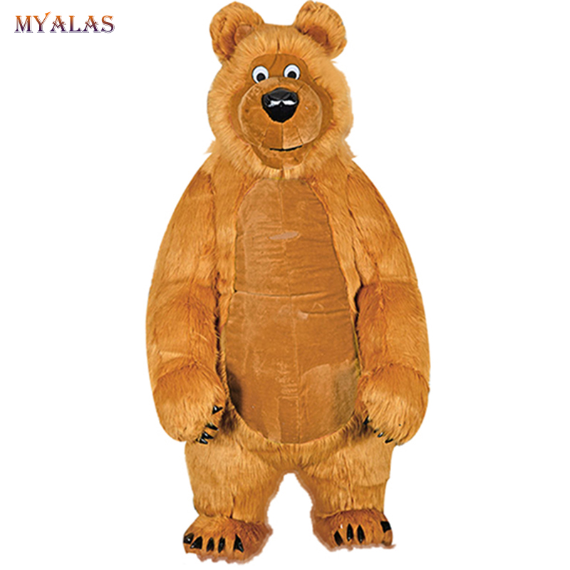 Martha Bear Mascot Costume Inflatable For Adult Anime Cosplay Kits Mascotte Carnival Costumes Animal mascotte adulte