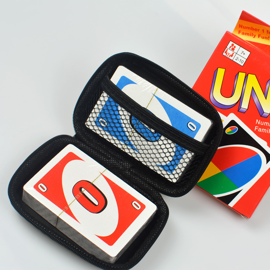 Travel Zipper Carry EVA Hard Case UNO Playing Cards board game Cards Storage package nice gift for kids fans Entertainment