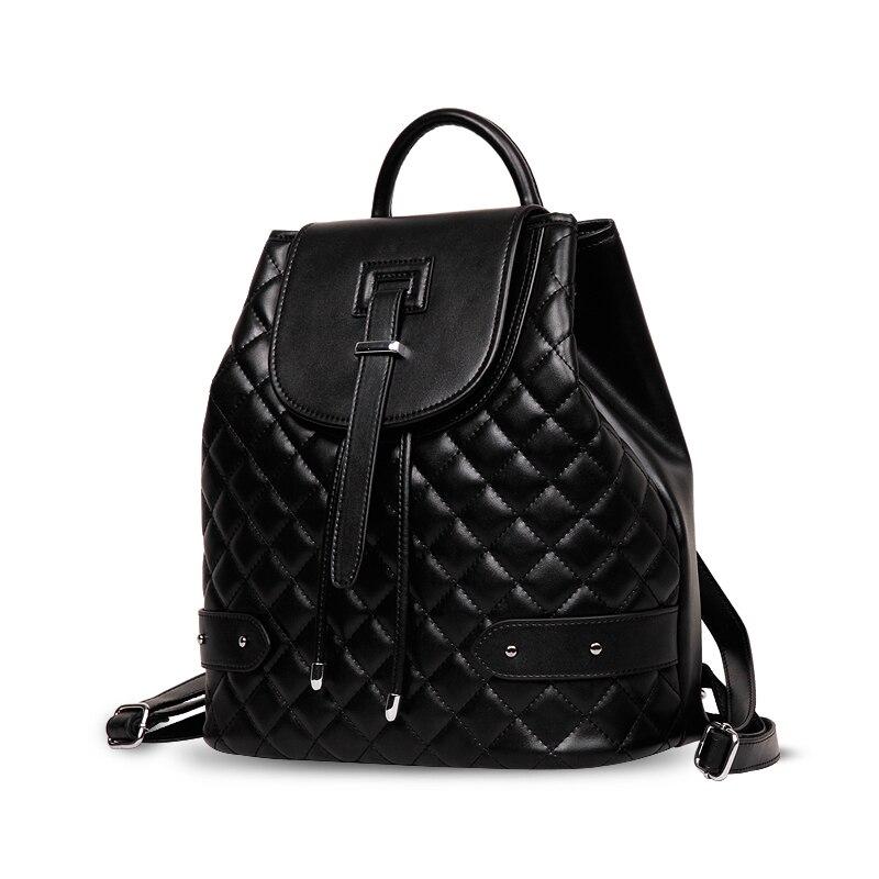 Backpack Famous Brand Leather Bag For 2018 Women Luxury Bag Diamond Lattice Travel Black Large Capacity Star Bag School Package мешочек для магнезии black diamond black diamond ultralight chalk bag белый medium large