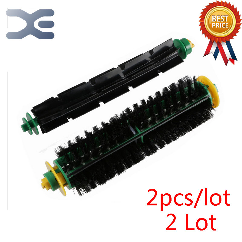 2 Lot IRobot Roomba 500 System Sweep Robot Parts Roller Brush Vacuum Cleaner Parts bristle brush flexible beater brush fit for irobot roomba 500 600 700 series 550 650 660 760 770 780 790 vacuum cleaner parts