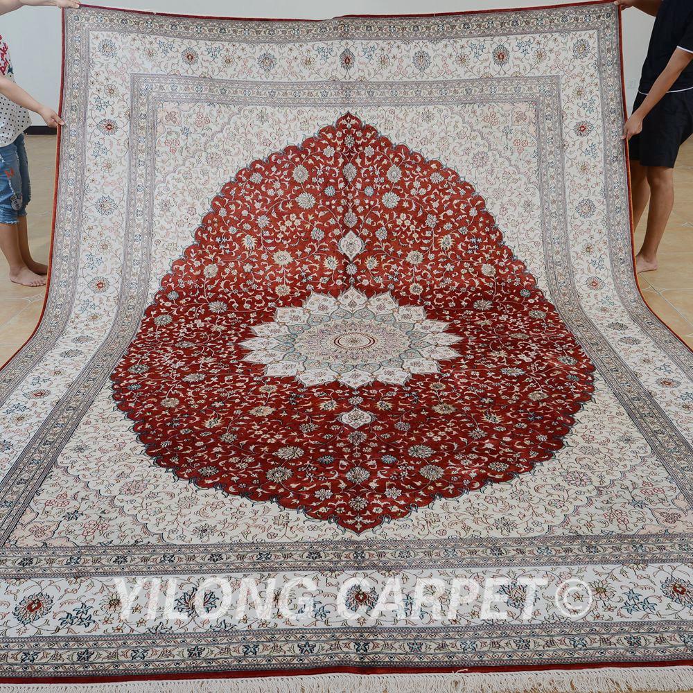 Yilong 9x12 Vantage Klassische Teppich Grosse Rote Medaillon Antike Carpet Wohnzimmer Persische