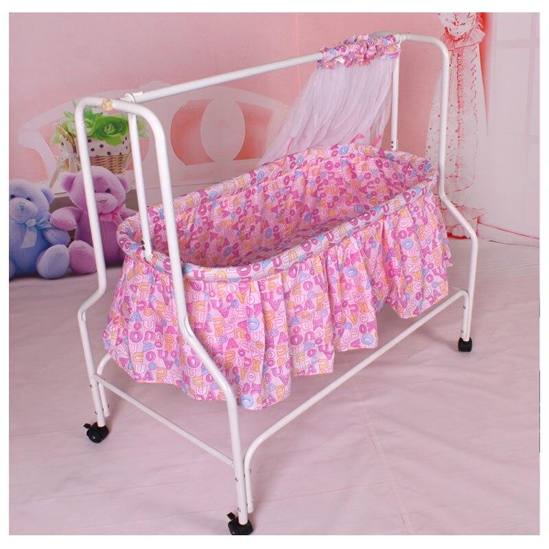 Berceau pliant pour bébé berceau avec filet nouveau-né berceau à bascule lit balançoire moustiquaire rouleau panier de couchage bébé literie