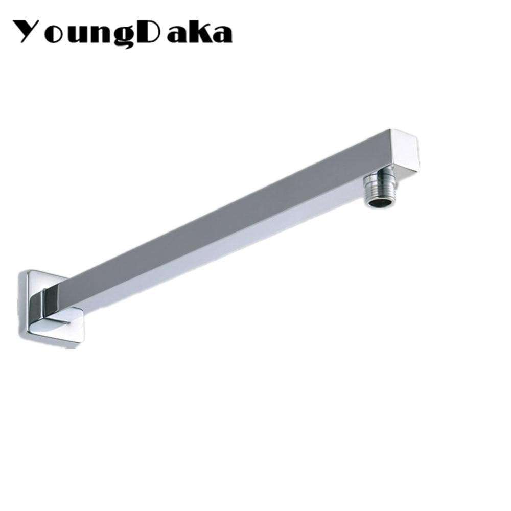 40cm Stainless steel Chrome Square Shower Arm for Rain Shower Head ...