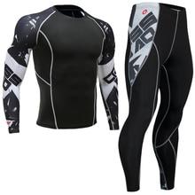 Новейшие компрессионные комплекты для фитнеса, трикотажные мужские футболки с 3D принтом MMA Cross fit, обтягивающие рубашки, леггинсы, базовый слой, колготки для велоспорта, базовый слой s