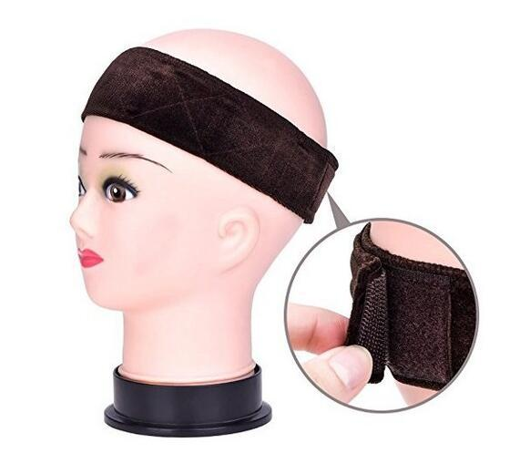 New Arrival Hand Made Non-Slip Wig Grip Band With Double Sided Velvet Adjustable Wig Hair Band Headband In Brown/Black/Blonde 1