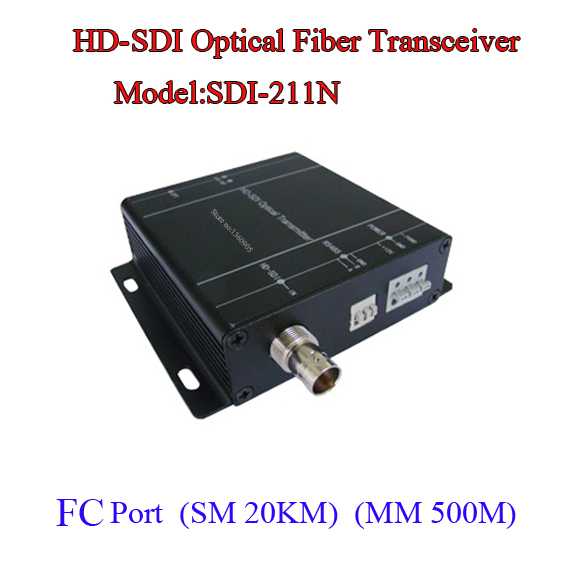 HD-SDI TO Fiber Video Data Optical Transceiver - Fiber to SDI Media converter -Video/Audio/RS485 data over fiber One Pair new 1ch hdsdi multifunction optical media converter 1080p transceiver video ethernet rj45 rs485 data audio over single fiber