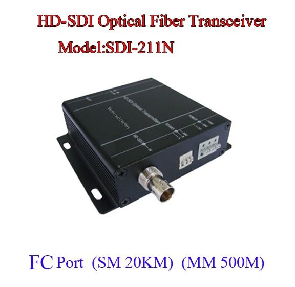 HD-SDI TO Fiber Video Data Optical Transceiver - Fiber To SDI Media Converter -Video/Audio/RS485 Data Over Fiber One Pair