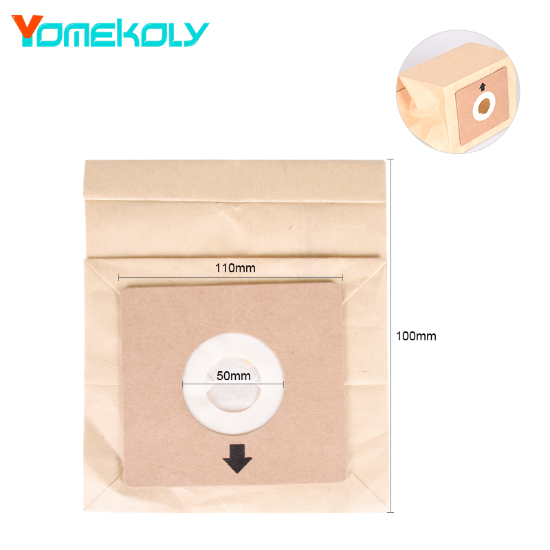 все цены на YOMEKOLY 1PC Vacuum Cleaner Dust Bag One-time-Used Dust Collecting Paper Bags Vacuum Cleaner Accessories онлайн