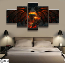 Hot Sales Without Frame 5 Panels Picture Canvas Art Warcraft Print Painting Artwork Wall Wholesale