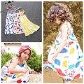 Verano Vestidos de Las Muchachas Bobo Choses Niños Ropa de Bebé Niños Playa Bohemia Sin Mangas Vestido de la Correa de Vestidos de Moda Las Niñas