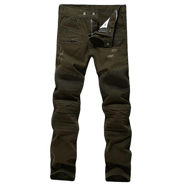 Plus size de alta qualidade marrom homens magros calças cantores masculinos Calças de palco DJ traje ds moda jazz inferior dos homens ocasionais dos homens calças de brim