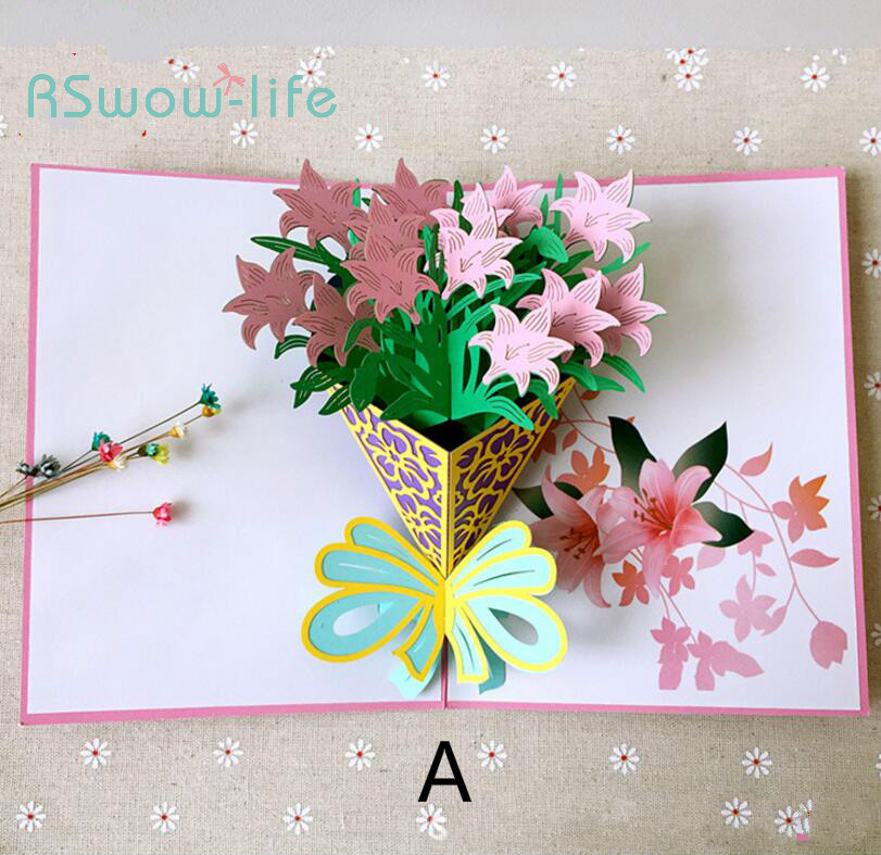 Aliexpress Buy Gardenia Stereo Greeting Card Creative Birthday