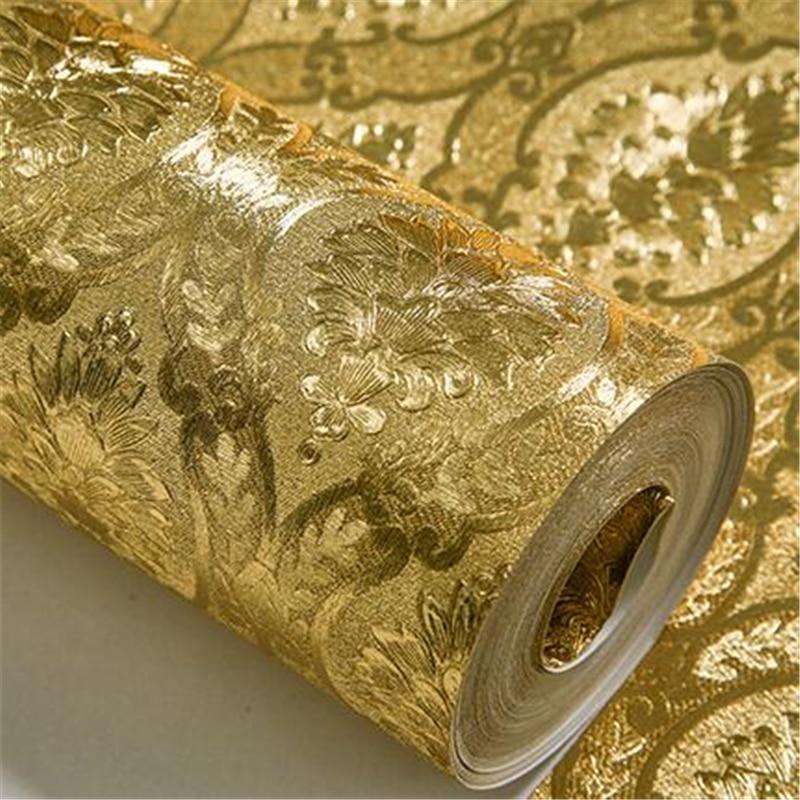 beibehang papel de parede 3D luxury home improvement wall paper roll silver Gold