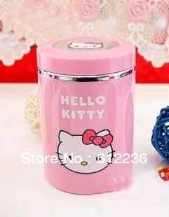 Hello Kitty ashtray cartoon ashtray Car Ashtray with LED Lights beautiful convenient for you hot selling promotional as gift