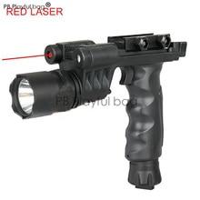 Тактический фонарь CS для занятий спортом на открытом воздухе, светодиодный фонарик с красным лазером для охоты и приключений, игрушечный пистолет RD03