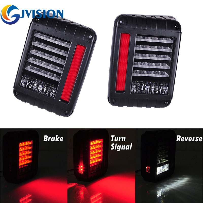 For Jeeps led tail lights with Turn signal light led Brake tail lights Rear Signal Reverse Lamps for 07-17 Jeep Wrangler JK