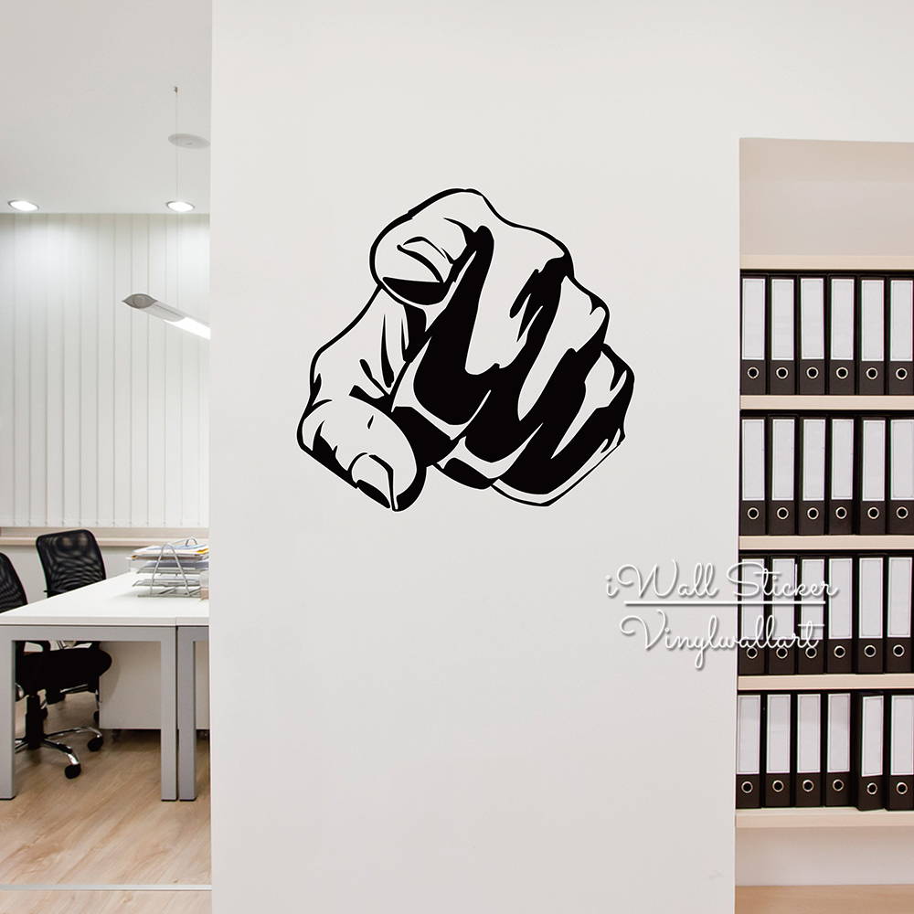 Fighting Wall Sticker Modern Fist Wall Decal DIY Office