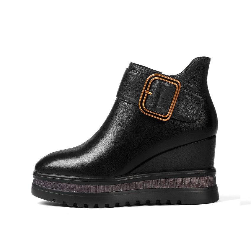 Hauts Esveva 3 34 42 Boucle Zip Coins forme En Plate Courtes Femmes Femme Peluche Automne Cheville Concise Noir 2019 Chaussures 5 Bottes Talons rXFqTxrw4
