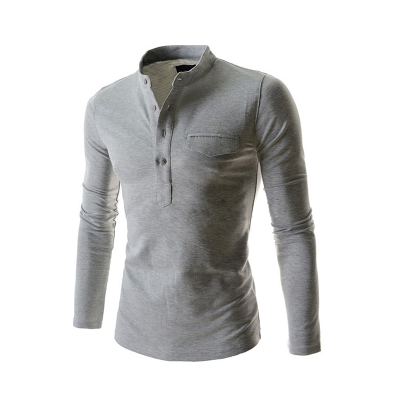 Online buy wholesale henley collar from china henley for Brand name long sleeve t shirt