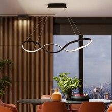 Black or White Dimmable+RC led Chandelier For Living Room Bar Dining Room hanging lamp Modern chandelier lighting fixtures недорого