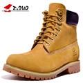 Z. Suo 10061 hombres clásicos botas primera capa de piel de vaca cuero Genuino botas en tubo de los hombres de moda casual Martin botas. botas hombre