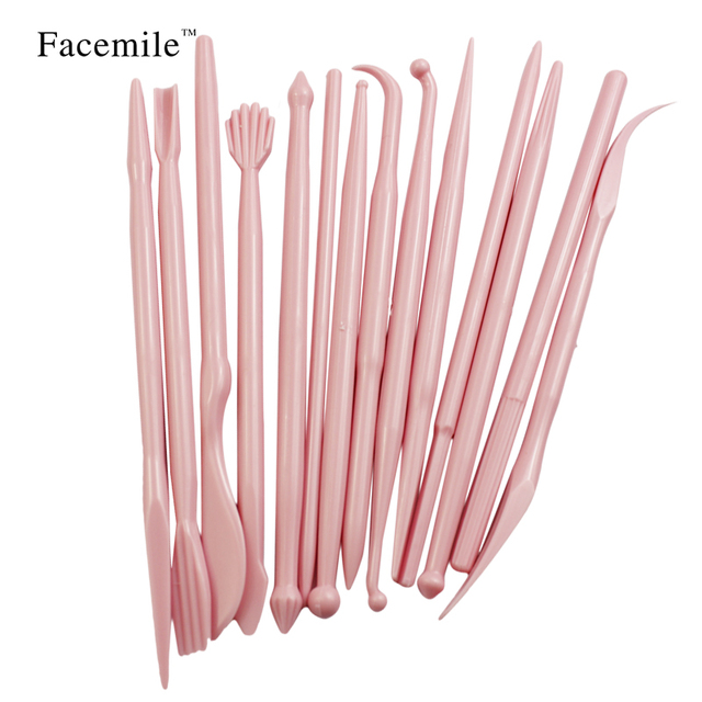 Facemile Cake Carved Group 14 Pink Fondant Cake Sugar Flower Sculpture Group Shaping Baking DIY Tools Mold 03044