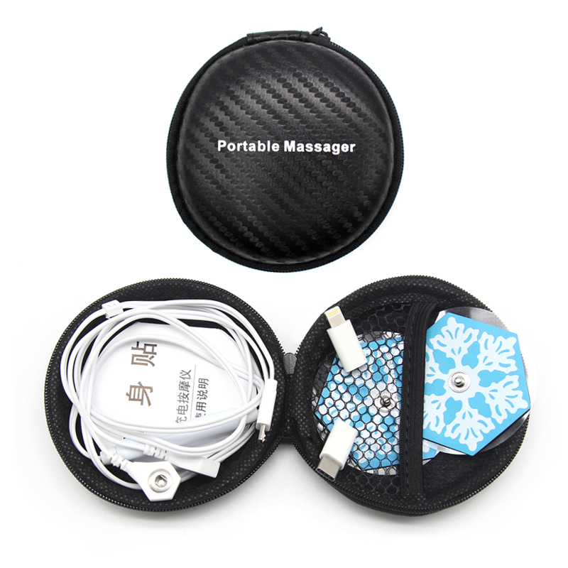 Mini Phone Muscle Massage Stimulator Mobile Connection Acupuncture Therapy Back Neck Shoulder Massager Electric Pulse Pad Relax in Massage Relaxation from Beauty Health