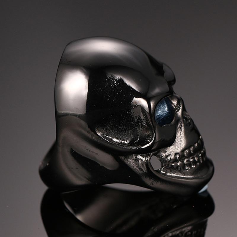 Nyaste kommande gotiska män Biker rostfritt stål ring mode svart / - Märkessmycken - Foto 3