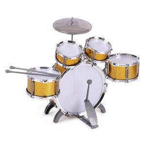 Image 3 - Children Drum Set  Jazz Musical Instrument Toy 5 Drums +1Small Cymbal Stool Drum Stick Music Toys Children Christmas Gift