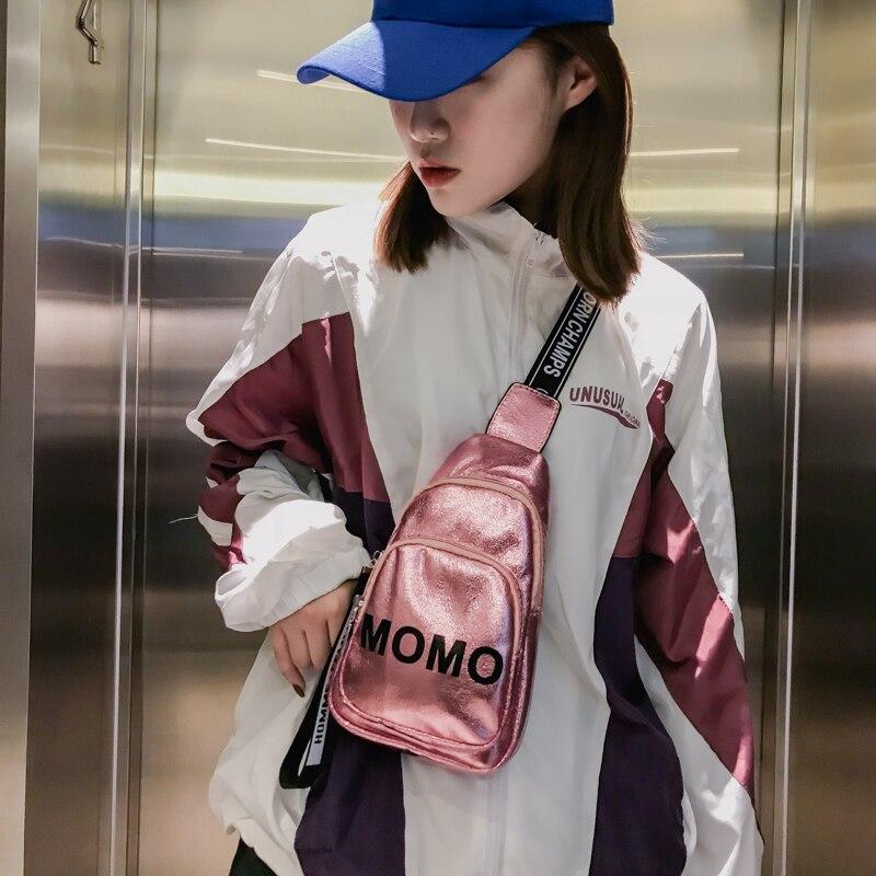 Nuova Moda Dell'edizione Libero Lettere Marea Femminile Il il 2018 Pacchetto Nero Suo Nuovo colore Rosa Sacchetto Del Di Beige Tempo Per Estate Singolo Han Spalla Piccolo Burlone wRXaf0