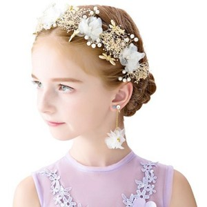 Прямая поставка; Детское свадебное кольцо принцессы с короной и цветком для маленьких девочек; Головной убор для выступлений на день рожден...