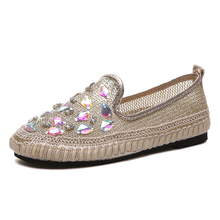 Summer Rhinestone Sandals Women Shoes  Version of The New Diamond Mesh Casual shoes woman