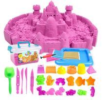 Sand Magic Amazing Space Play Sand Fun Little Toys Sculpts Castle Architecture Set 42 pcs Molds Tool Kit , A Kinetic Sensory Art