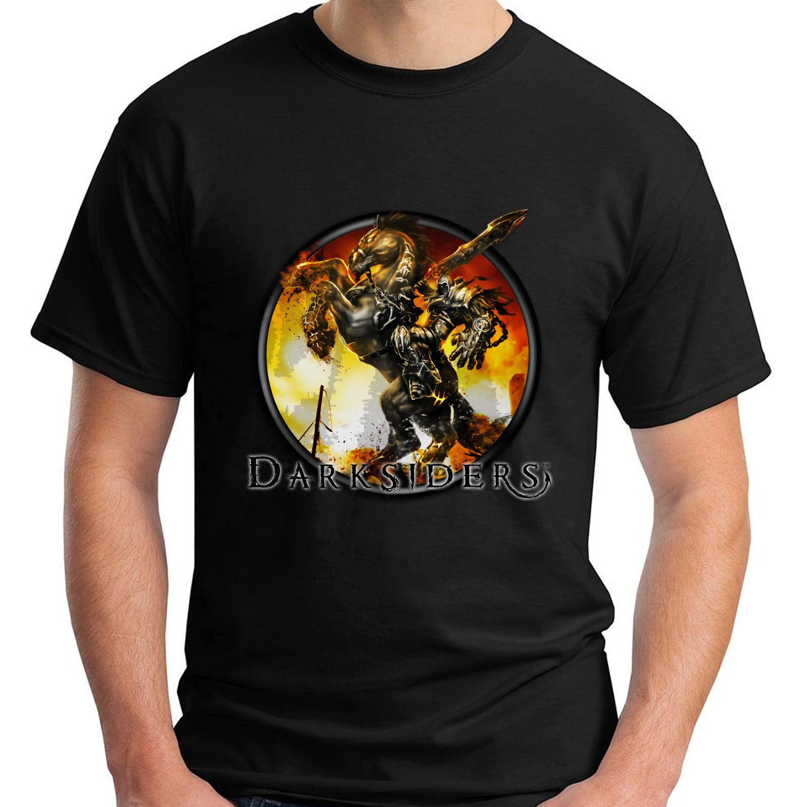 Darksiders Death War Four Horseman Game Darksouls Skyrim Lord Of Shadow T-Shirt O-Neck Oversize Style Tee Shirts Styles