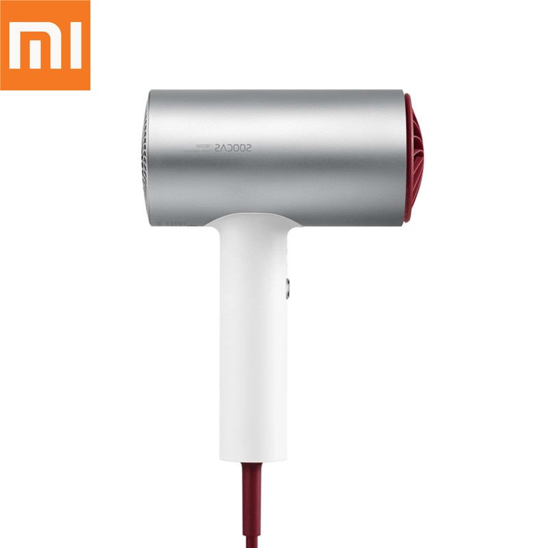 Original Xiaomi Mijia Soocas Hair Anion H3 Quick drying Hair Tools 1800W for Xiaomi Smart Home Kits Mi Dryer Design xiaomi mijia baseball cap sweat absorption reflective snapback unisex design adjustable design fashion accessory for smart home