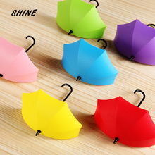 1PCs Umbrella Wall Hook Key Hair Pin Holder Colorful Organizer Decor
