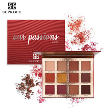 SEPROFE New Arrival Charming Eyeshadow 12/16 Colors Nocturne Palette Make up Matte Shimmer Pigmented Eye Shadow Powder