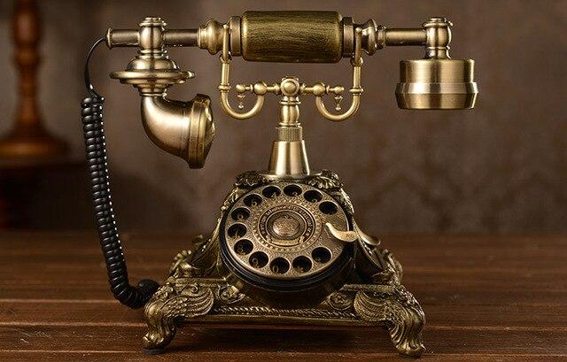 Girar dial o número de telefone antigo do vintage presente da moda casa estilo americano telefone