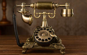 Antique Telephone Vintage Rotate-Dial Household Fashion The Number Gift American-Style