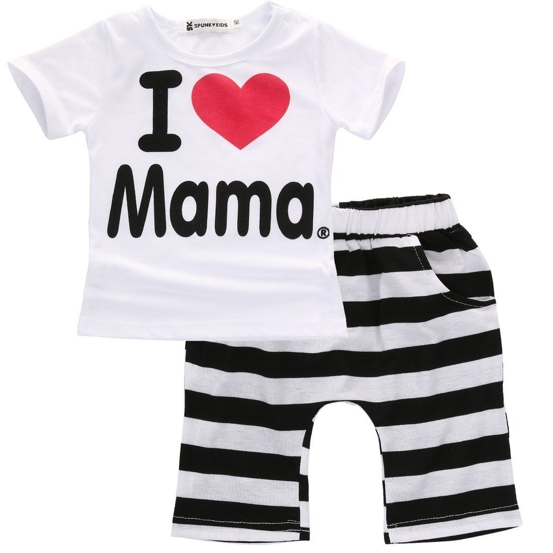 dbb1c062f22b0 US $2.42 19% OFF|2PCS Toddler Infant Newborn Twins Baby Boy Girls Casual T  shirt Strip Pants Outfits Pajamas Suit-in Clothing Sets from Mother & Kids  ...