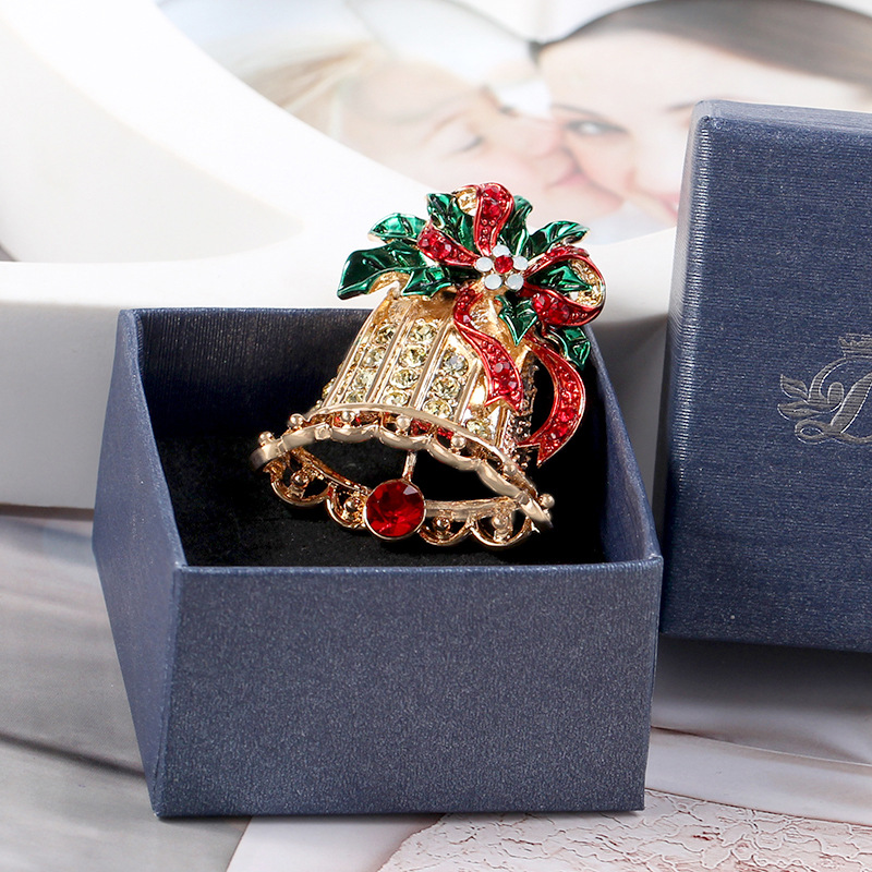CINDY XIANG Exquisite Paint Christmas Bell Brooches For Women Cute Colorful Creative  Pins Sweater Coat Dress Accessories Jewelry-in Brooches from Jewelry ... fc683d2bd0f1
