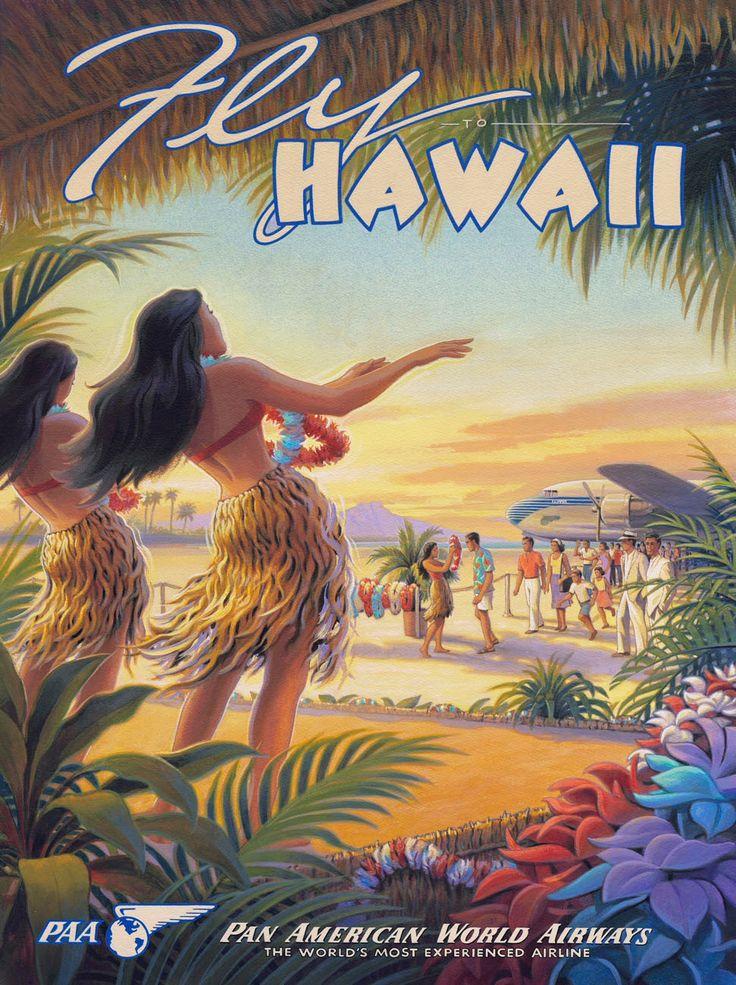 Hawaii Travel Wallpaper Images Visit Waikiki Summer Holiday Posters Retro Vintage Jpg