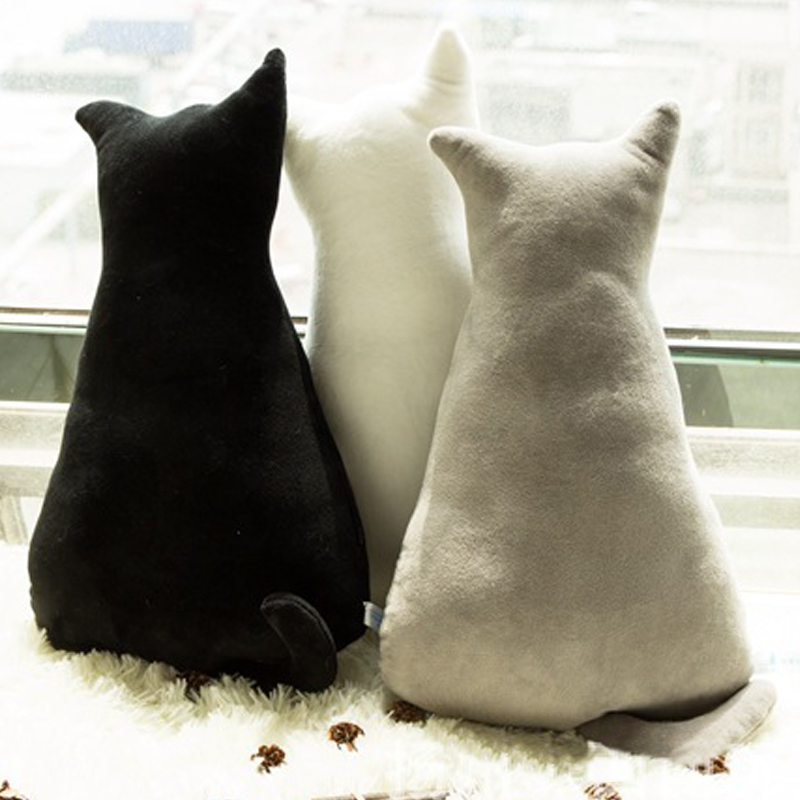 1pc 45cm Soft Fashion Back Shadow Cat Seat Sofa Pillow Cushion Cute Plush Animal Stuffed Cartoon Pillow Great Toys for Gift 1pc 65cm cartion cute u shape pillow kawaii cat panda soft cushion home decoration kids birthday christmas gift
