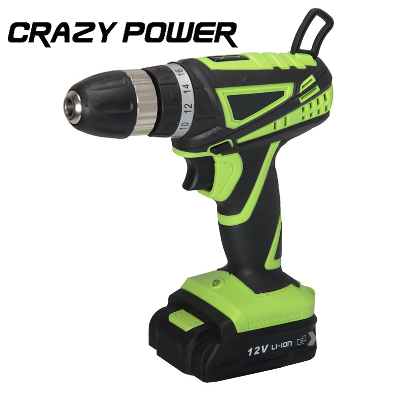 12V Electric Screwdriver Lithium Battery Rechargeable Parafusadeira Furadeira Multi function Cordless Electric Drill AMH106