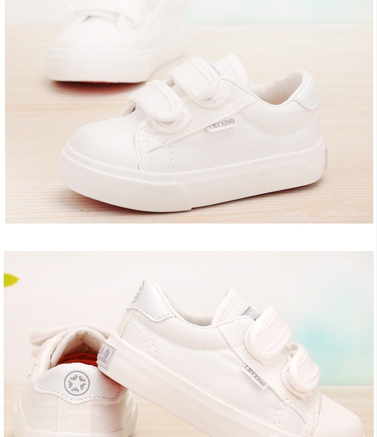 Beautiful Baby Girl and Boy White Canvas Shoes 6 Colors kids Casual Shoes Flat and Durable Toddler Little Girl Sneakers 6