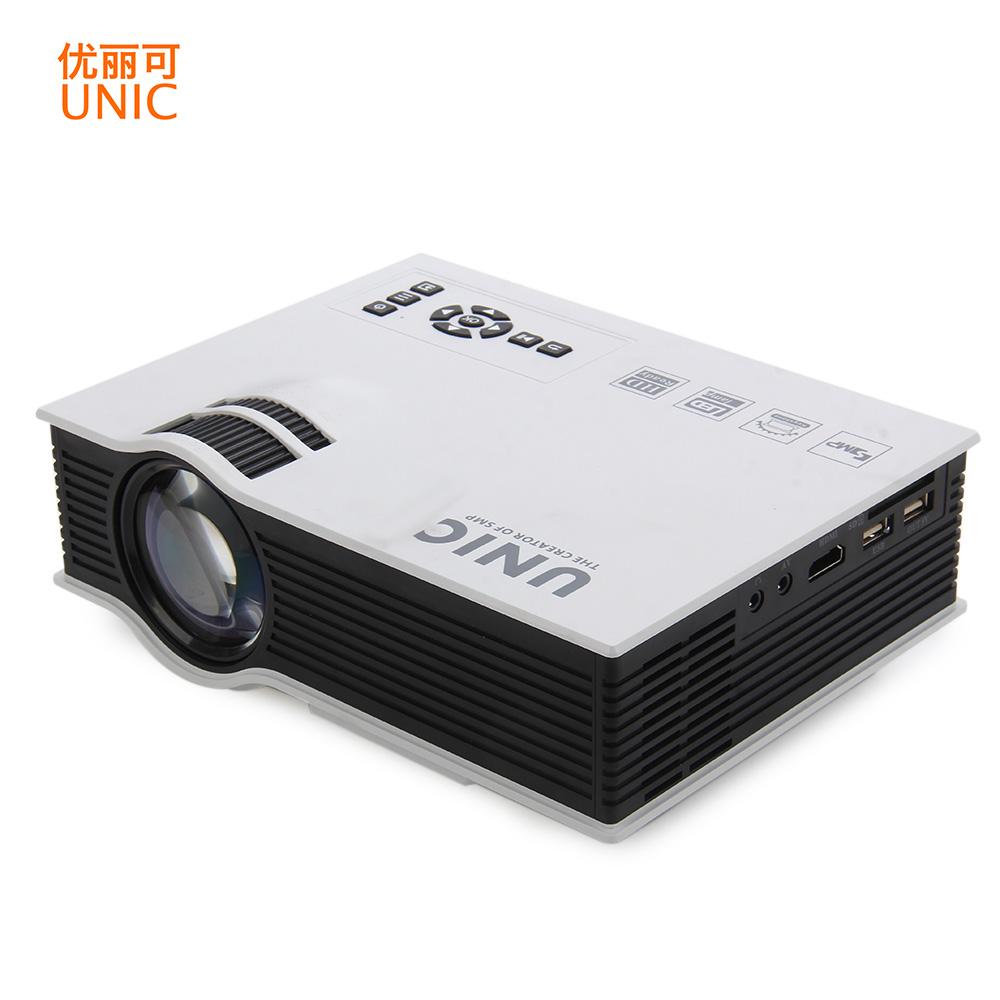 Prix pour UNIC UC40 Mini Portable 3D Projecteur HDMI Home Cinéma Beamer Multimédia LED Projecteurs Full HD1080P Vidéo Avec Miracast Airplay