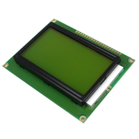 Free Shipping 128 64 DOTS LCD Module 5V Yellow And Green Screen 12864 LCD With Backlight