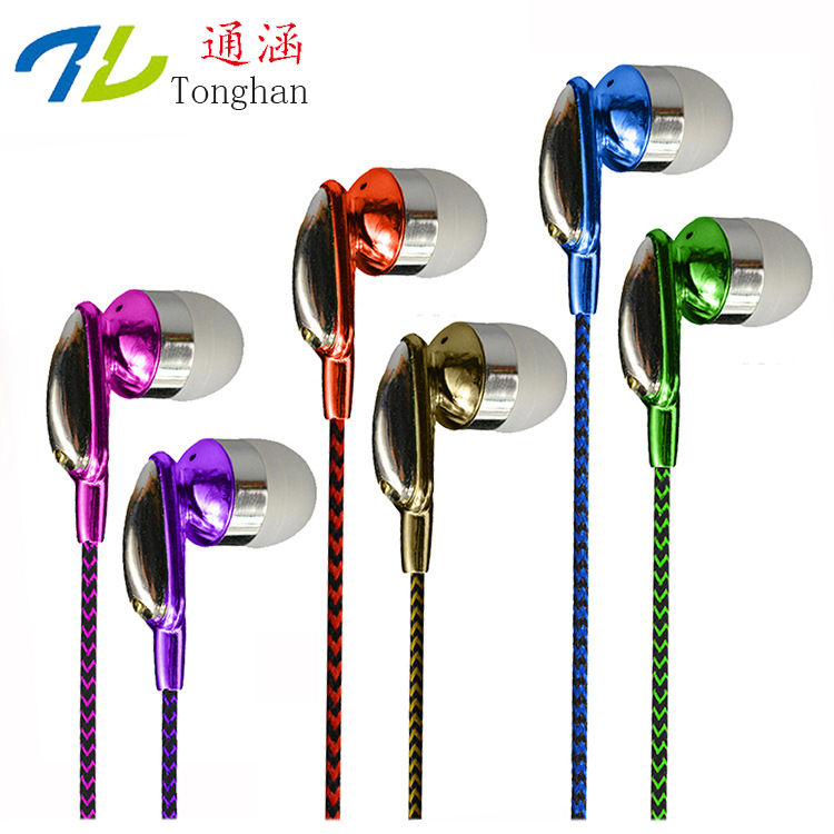 WD16 3.5mm Earphones Headsets Stereo Earbuds For mobile phone MP3 MP4 For PC